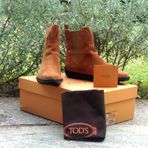 Tod's Suede Leather Ankle Boots