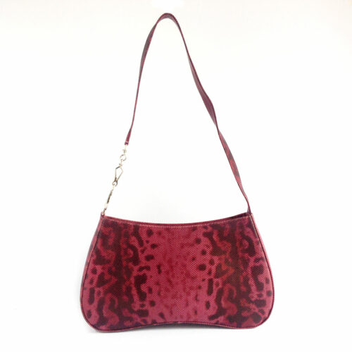 Mima Purple Snake-effect leather structured shoulder bag