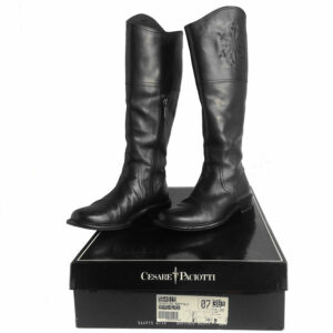 Cesare Paciotti Buffalo Black size 38 1/2 knee-high boots
