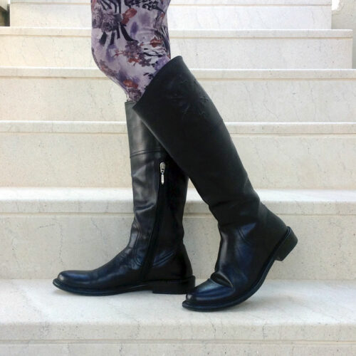 Cesare Paciotti Buffalo Black size EU 38,5 knee-high boots