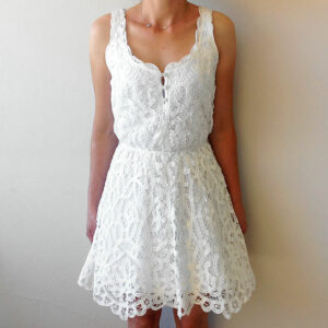 Ambercrombie & Fitch Zoe White Size XS/S Battenburg Lace Dress
