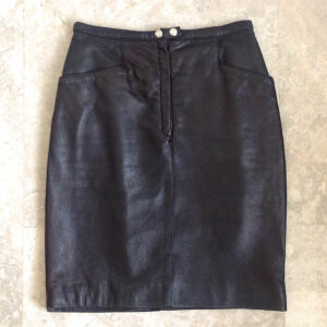 Joop Dark Brown Size 40 Leather Skirt Made in Italy