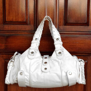 Chloe White Silverado Leather Boho Handle Bag