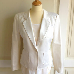 Valentino Off White Size 44 Clean Cut Jacket/Blazer