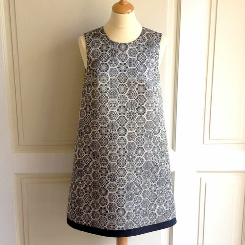Gucci Metallic Silver Size 42 Sleeveless Jacquard Shift Short Dress