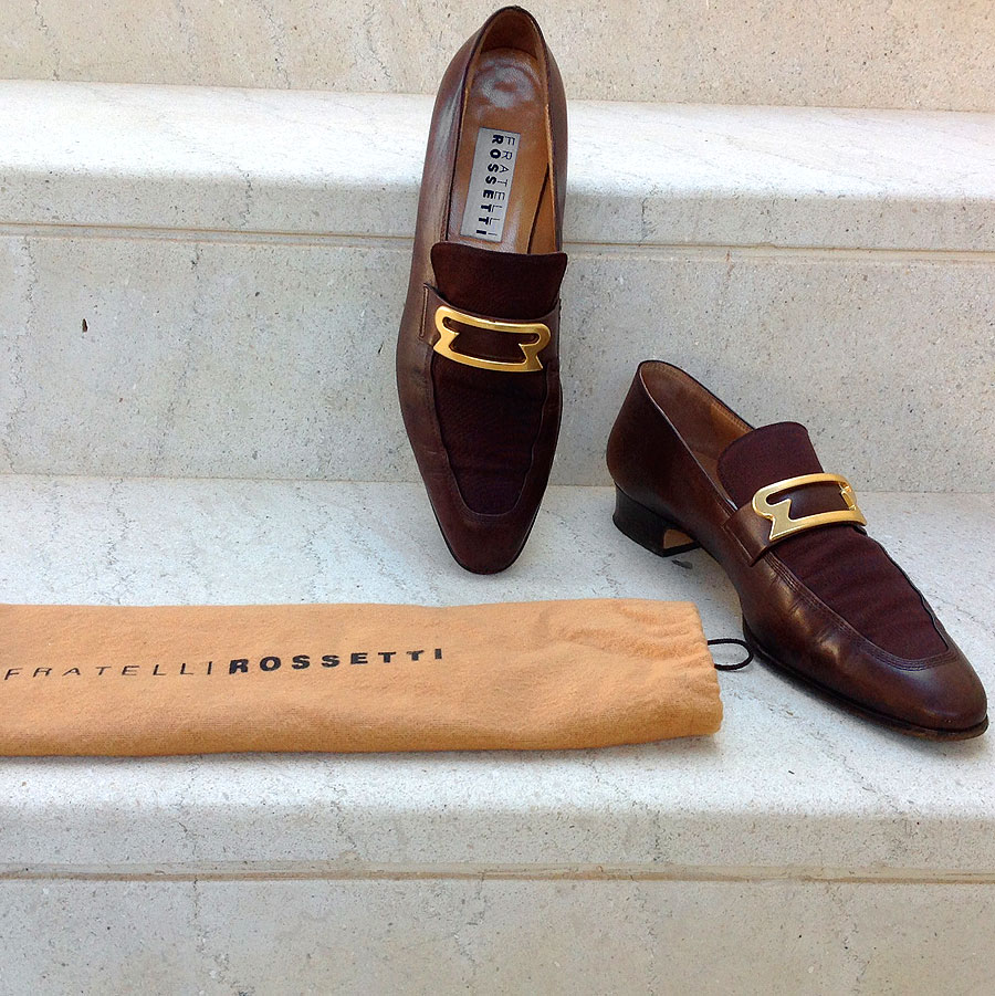 Fratelli Rossetti Brown Leather Women's Size 38 1/2 Slip-ons Loafers w/ Dust bag