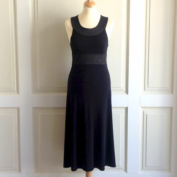 Michael Kors Blue Black Size 8 Scoop Neck Sleeveless Dress