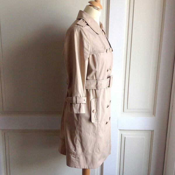 Previous. Juicy Couture Tan Women s Size M Double Breasted Belted Trench  Coat ... 973644550
