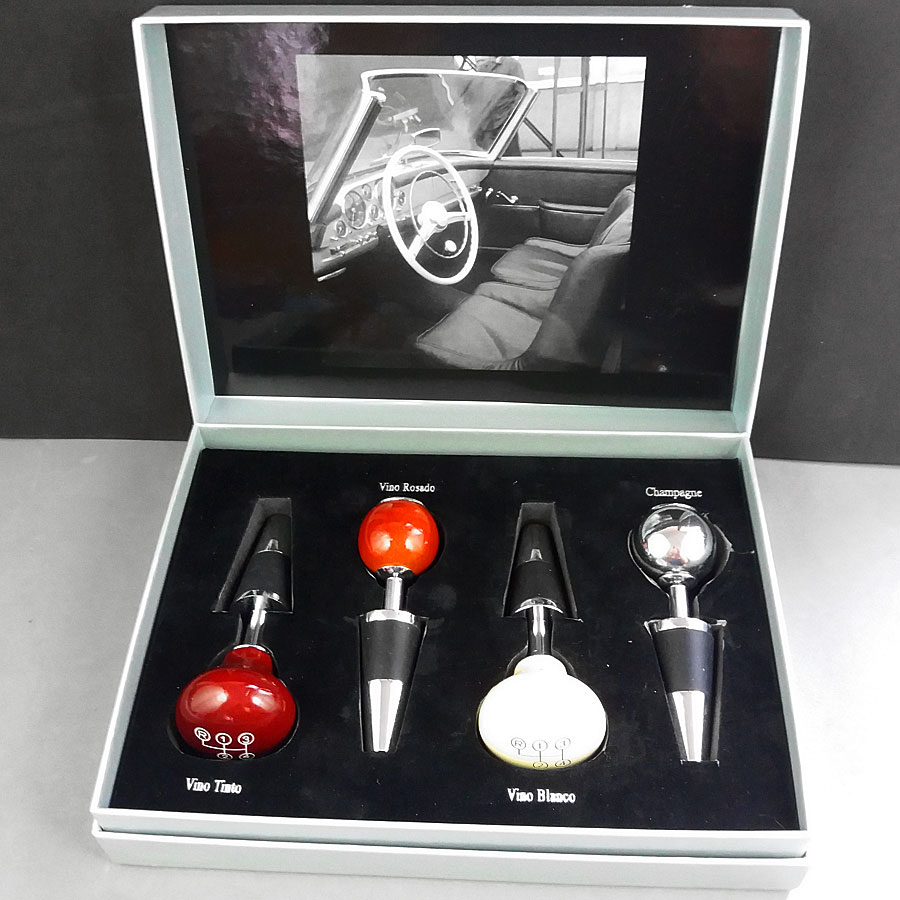 Mercedes Benz Wine Bottle Stoppers set of 4 Classic Gearshift Knob Original Box