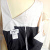 Chanel Pearl and Black 100% Silk Size 38 Sleeveless Dress
