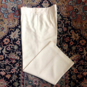Ralph Lauren Ecru/Cream Size 10 100% Silk Wide Leg Pants Trousers