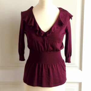 Etro Burgundy Cashmere/Silk Knit Size 42 Women's Sweater/Top