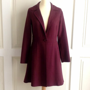 Leon Max Burgundy Limited Edition Size S Stretch Viscose Wool Fit & Flare Topper