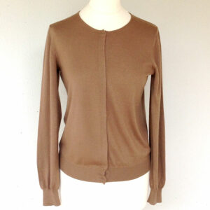 Loro Piana Camel Cashmere Long sleeve Size 42 Women's Cardigan