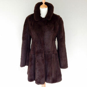 Chine Belgian Collection Design Brown Size 2 Knee length Rabbit/Lapin Fur Coat