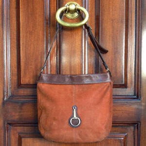 Toni Mir Boho chic Camel Suede and Brown Leather Shoulder Bag
