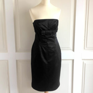 Paul Smith Black Cotton Blend Size 44 Strapless Sleeveless Dress