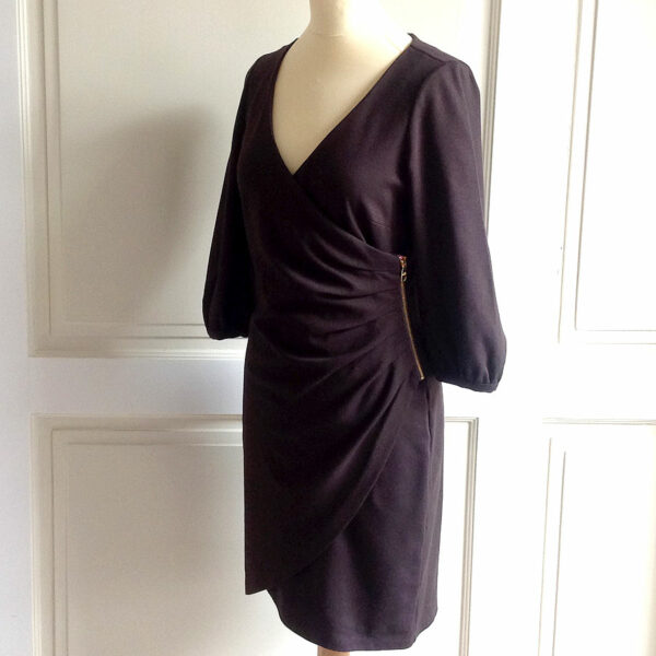 Love Moschino Brown 3/4 Sleeve Size I 40/F 36/D 36/ GB 8/US 4 Jersey Dress