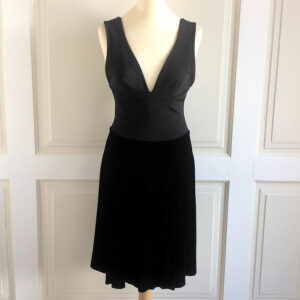 Emporio Armani Black Size 40 Fit and Flare Sleeveless Silk Blend Velvet Dress