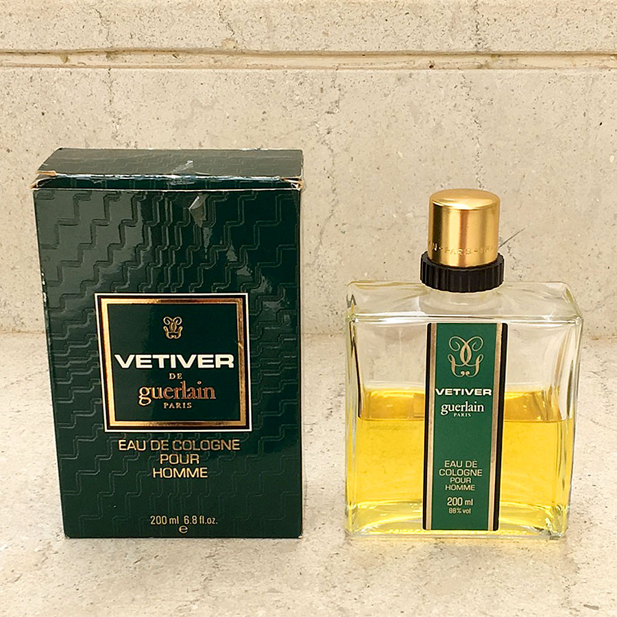 Vetiver de Guerlain Vintage Eau de Cologne Splash 200ml/6.8fl.oz w/Box Sold as Seen