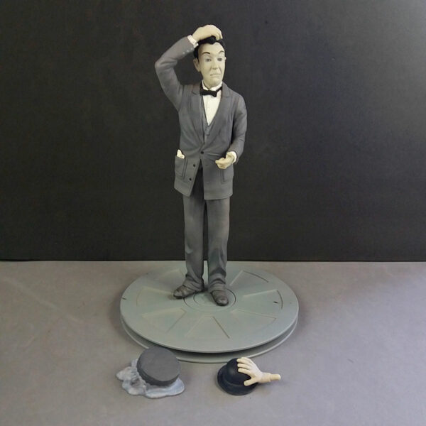 Stan Laurel by SD Toys Movie Icons Vintage Statue Figurine in Film Can box