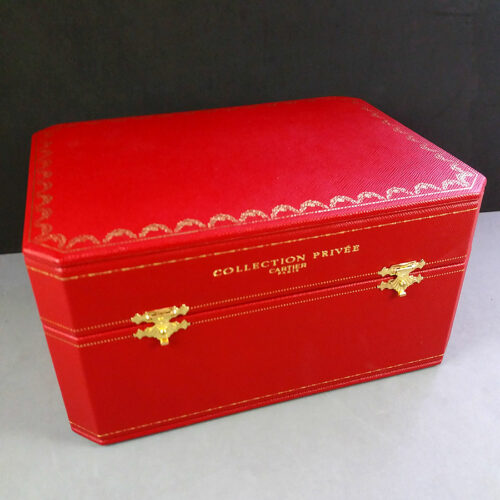 Cartier Paris Collection Privee Jewelry Watch Wood Inlay Box w/Ring holder