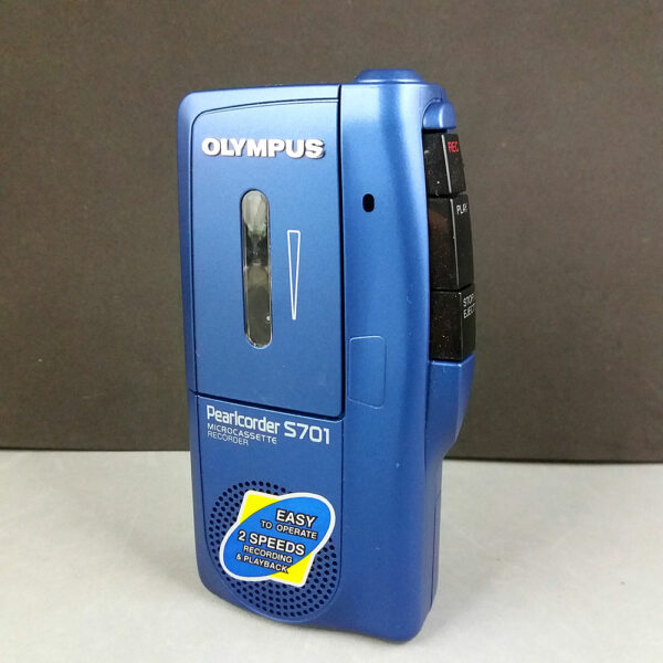 Olympus Pearlcorder S701 Blue Microcassette Recorder