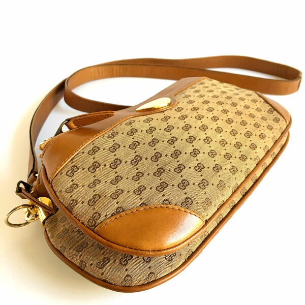Gucci Brown/Tan GG Canvas & Leather Trim Vintage Cross-body Bag