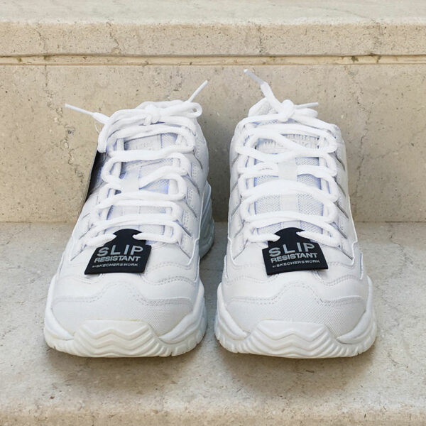 Skechers Work White Size US8.5 Lace Leather Shoes 76009 Anti Slip Energy Sector