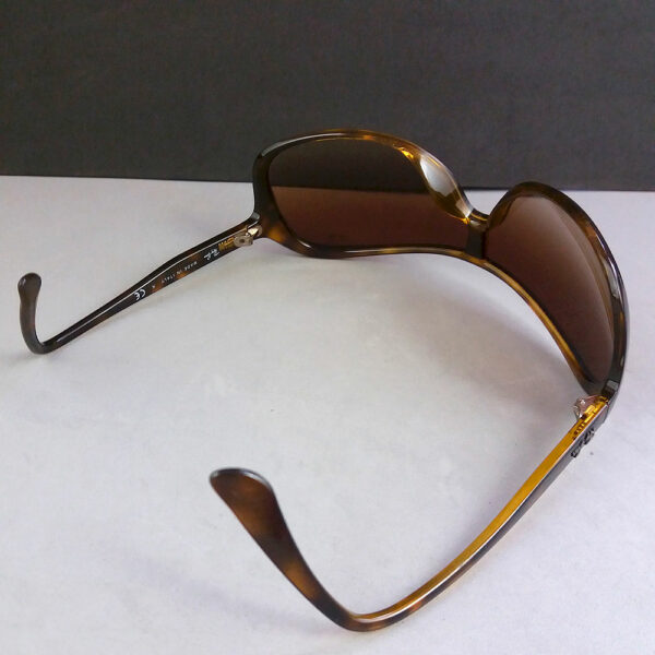 Ray Ban RB 4086 Tortoise Brown Wrap Designer Sunglasses Made in Italy
