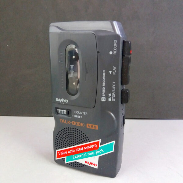 Sanyo TRC-570M Talk-Book VAS Microcassette 2 Speed Voice Recorder
