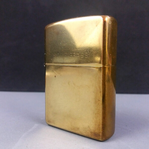 Zippo Solid Brass 2004 Cigarette Lighter