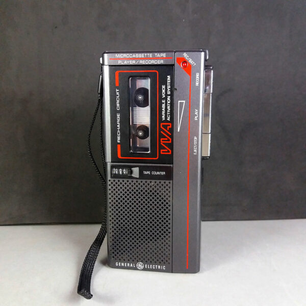 GE General Electric 3-5326A VVA Microcassette Recorder Dictaphone w/Strap