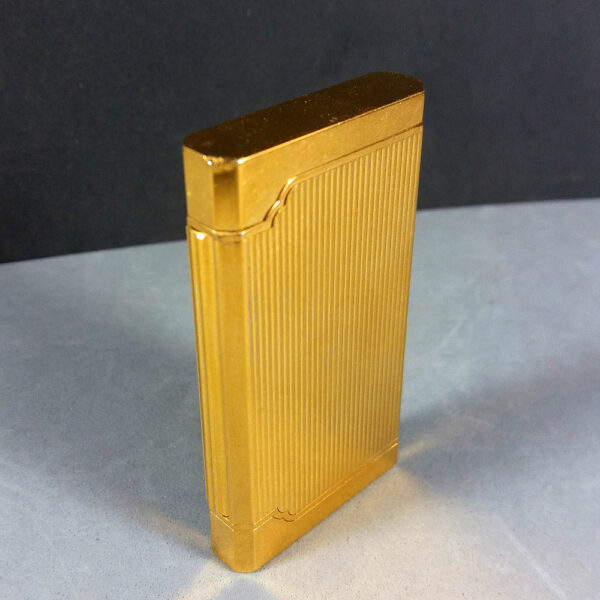Davidoff Rare Vintage Slim Gold plated Pipe Lighter by S.T. Dupont Working