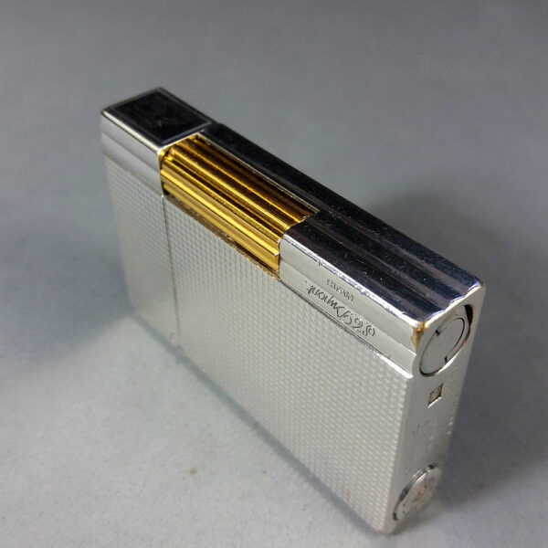 S.T. Dupont Ligne 2 Gatsby Plaque Argent G Silver/Gold Lighter Boxed w/Papers
