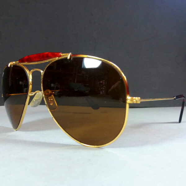 Ray Ban B&L 62-14 Bausch & Lomb Aviator Outdoorsman USA Made Sunglasses w/Case