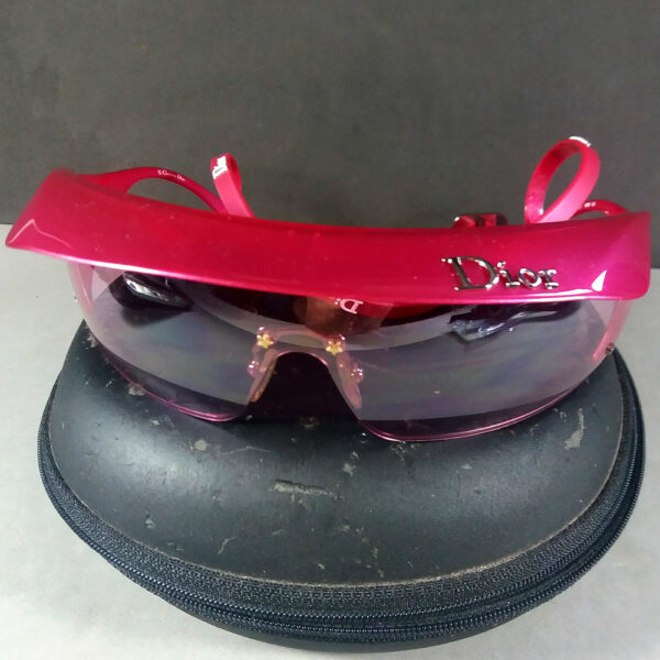 Christian Dior Pink Golf Frameless Sunglasses WQ8 120 w/Original Case & Shade