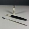 S.T. Dupont Fidelio Silver/Black Ball Point Pen in Case w/COA & Papers