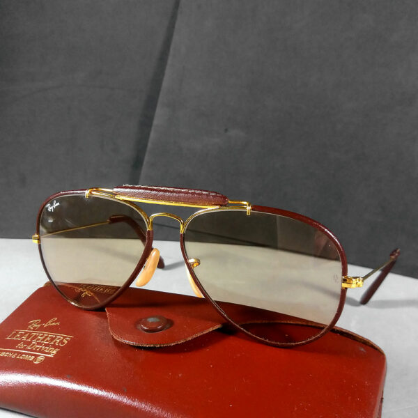 58625a492 Ray Ban B&L Leathers Outdoorsman For Driving 58-14 USA Sunglasses w ...