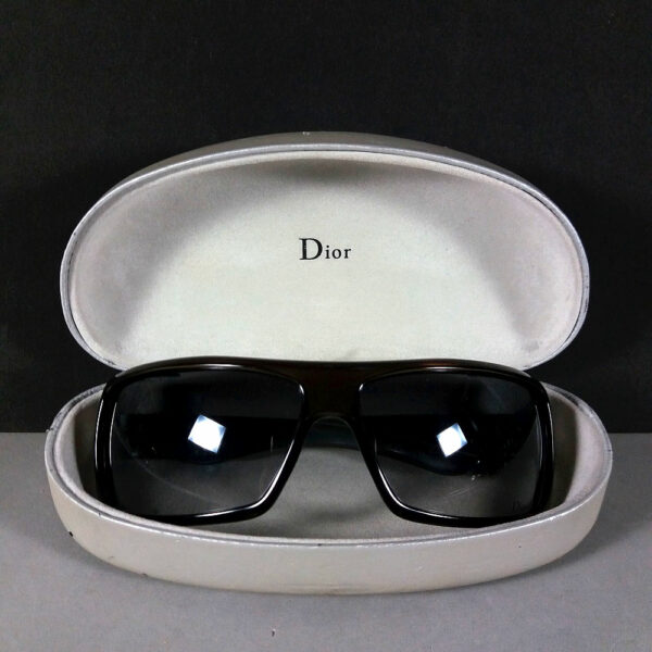 Christian Dior PARTY1 WH2 64-14 110 Brown Translucent Sunglasses w/Original Case
