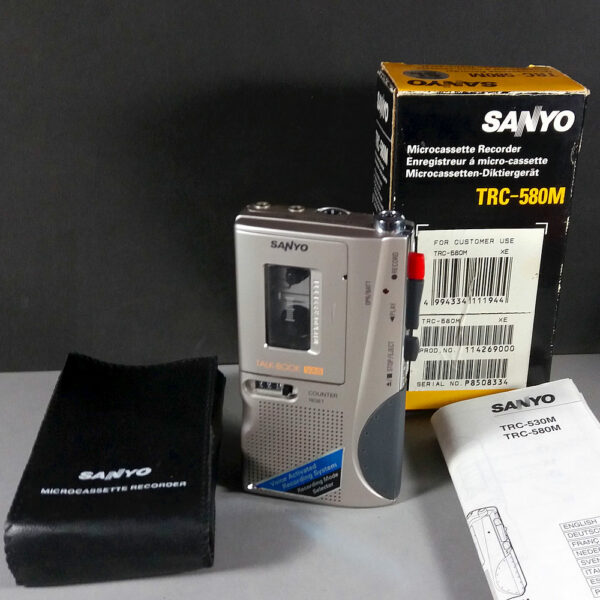 Sanyo TRC-580M Talk-Book VAS Microcassette Tape Recorder Dictaphone in Box