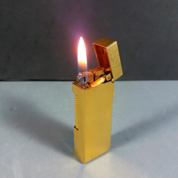 Dunhill Gold Barley Rollagas Lighter US.RE 24163 SWISS Made Working