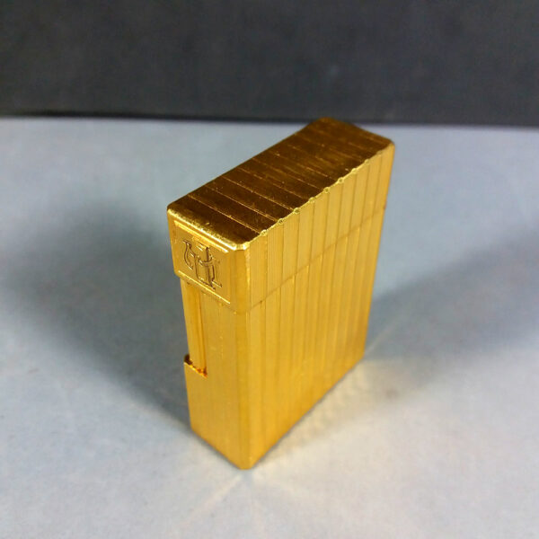 S.T. Dupont Gold Vertical Line Motif Ligne 1 Small Lighter Working Condition