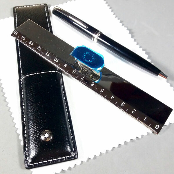 Montblanc Generation Ballpoint Pen & Stainless Ruler Gift Set in Box w/Papers