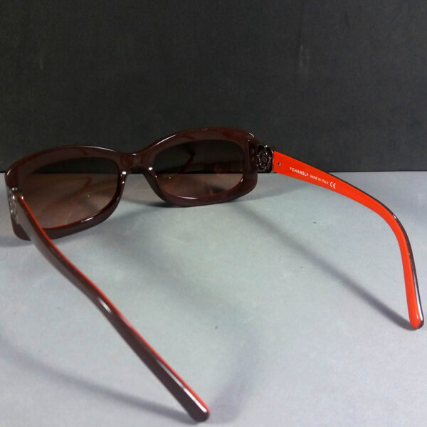 Chanel 5127 1016/13 130 Camellia CC Logo Brown/Orange Sunglasses w/Original Case