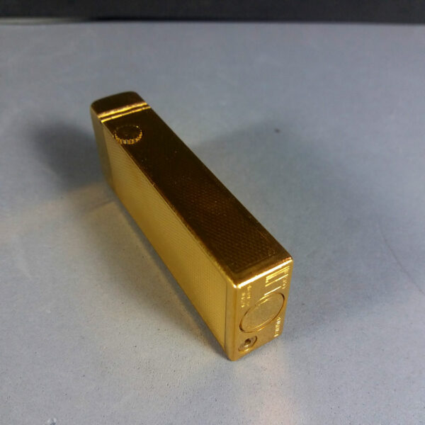 Dunhill Early Gold Plated Barley Rollagas Lighter PATENTED Swiss Made RARE