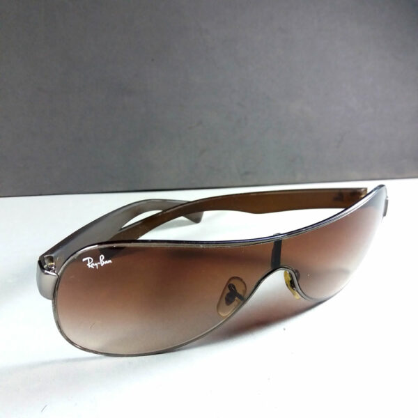 Ray Ban RB 3471 Brown Gun Metal Shield Sunglasses w/Rubber Arms