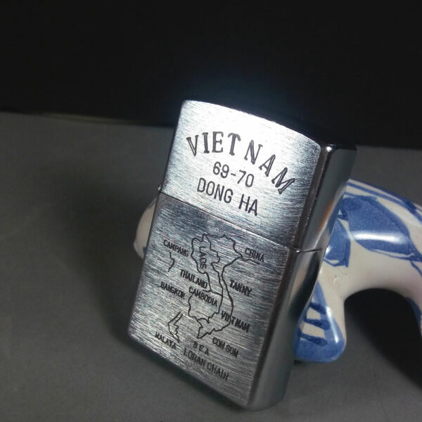 "Zippo 1969 Vietnam War Dong Ha 69-70 Vintage Lighter ""Always ripped/...stoned"""