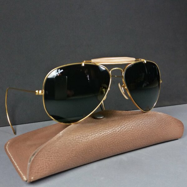 Ray Ban B&L 58-14 Vintage Aviator Outdoorsman USA Made Sunglasses w/Case