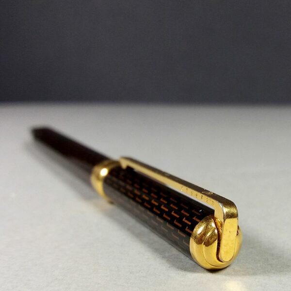S.T. Dupont Ecaille Brown Gatsby Gold/Laque de Chine Vintage Ball Point Pen RARE